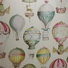 Manuel Canovas wallpaper hot air balloons