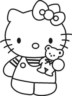 hello kitty coloring sheet - Sheets To Color
