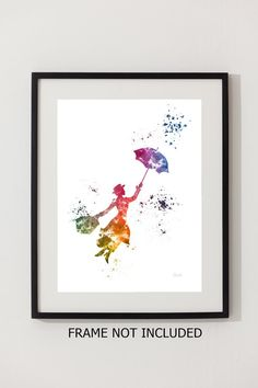 Mary Poppins ART PRINT 10 x 8 illustration Disney by SubjectArt