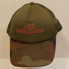 Old Milwaukee Beer Camouflage Vintage Snapback Baseball Truckers Hat Cap #Copasetic #BaseballCap