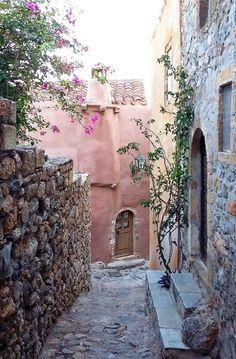 Inside the Castle walls of Monemvasía, Peloponnese, Greece | by maria.na