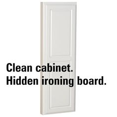 Household Essentials 18100-1 StowAway In-Wall Ironing Board Cabinet with Built In Ironing Board - White