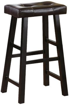 Set Of 2 Country Series Bar Stool In Espresso Finish With Faux Leather for sale online Home Bar Furniture, Smart Furniture, Furniture Sale, Furniture Decor, Modern Furniture, Wood Bar Stools, Swivel Bar Stools, Thomasville Furniture, Stools With Backs