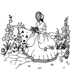 Southern belle belle and patterns on pinterest for Southern belle coloring pages