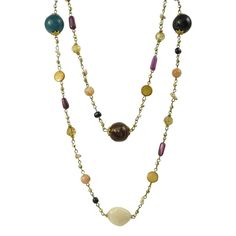 Bella Rose Fashion Multi Coloured Beaded Necklace