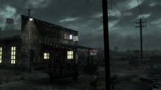 Fallout: New Vegas Fallout Art, Fallout New Vegas, Doctor Images, Never Change, Post Apocalypse, Screen Shot, Landscape, War, Cyberpunk