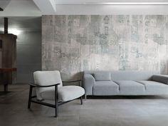 Graffiti Antracite & Urban - Ceramiche Refin S.p.A. - Porcelain stoneware #tiles that look like cement / beton.