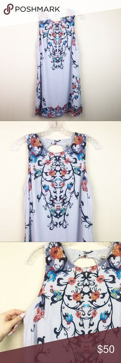 262ea837b912da Ecote Guinevere Open-Back Frock Dress Sweetly printed sleeveless frock  dress from modern boho brand