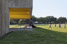 Webb Chapel Park Pavilion by Cooper Joseph Studio. #Concrete & #Color