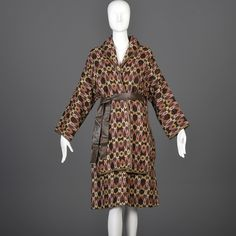 Label: Sills, Bonnie Cashin. This is a two piece set including 1 jacket and 1 skirt. The textile is a stunning, textural woven tweed in a geometric pattern. Colors are shades of brown with pink and red. | eBay!