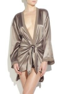 La Perla Satin silk robe.