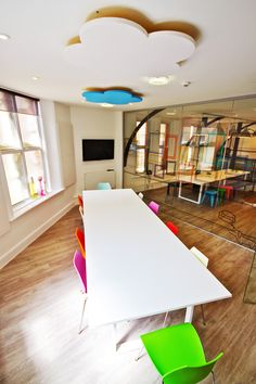 Inside Quantum Marketing's Renovated-Church Offices Boardroom