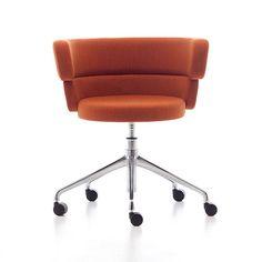 Dam home-office, Heim-Bürostuhl, Dreh auf Rädern, mit bequemen gepolsterten Sitz