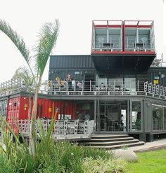 Plans To Design And Build A Container Home - Shipping Container Homes: Shipping Container Restaurant in Mexico City: Perros Y Burros www. - Who Else Wants Simple Step-By-Step Plans To Design And Build A Container Home From Scratch? Container Home Designs, Container Homes For Sale, Cargo Container Homes, Container Shop, Building A Container Home, Container House Plans, Container Cabin, Shipping Container Restaurant, Shipping Container Buildings