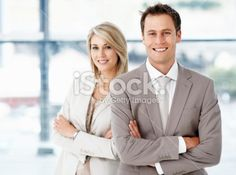 Business executives with hands folded Royalty Free Stock Photo
