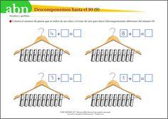 ¡Buenas! Hoy seguimos descomponiendo números del 1 al 10. En la primera entrada donde comenzamos a realizar estas descomposiciones (ver [AQUÍ]) lo hicimos mediante las ya conocidas casitas de desco… Mathematics, Deco, Google, Reading Comprehension, 1st Grades, Calculus, Math, Decoration, Deko