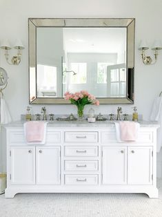 8 Relaxing Tricks: Small Bedroom Remodel Before And After bedroom remodeling floating shelves.Master Bedroom Remodel Wainscoting bedroom remodel on a budget tips. Bathroom Renos, Bathroom Furniture, Bathroom Interior, Small Bathroom, Master Bathroom, Bathroom Ideas, White Bathroom, Modern Furniture, Bathroom Cabinets