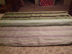 DIY tutorial on making porch swing cushions