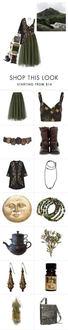 """""""Untitled #589"""" by le-mal-du-pays ❤ liked on Polyvore featuring P.A.R.O.S.H., Vilshenko, Frye, H&M, 1928, Alkemie, Lord & Taylor and Mark Nason"""