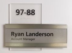 fusion 51 type H Interior Sign with flush accent bars and an insert.  #signage #wayfinding