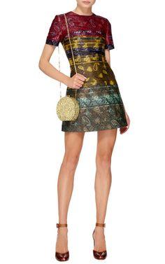 Oscar Round Glitter Clutch  by Edie Parker Now Available on Moda Operandi