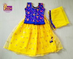 kids online party frock western girls new born just born birthday function chudidhar traditional ethnic wear India Blue Peach, Blue Yellow, Kids Lehenga Choli, Yellow Lehenga, Party Frocks, Western Girl, Girls Dresses, Summer Dresses, Girl Online