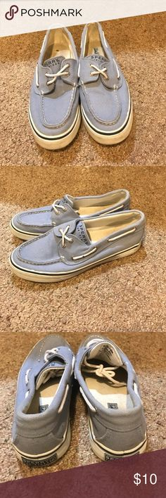 Sperry top siders Lightly worn blue sperry top-siders! Sperry Top-Sider Shoes Flats & Loafers
