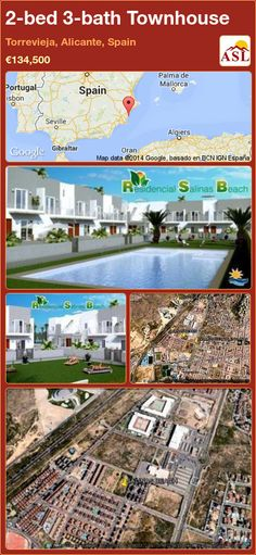 Townhouse for Sale in Torrevieja, Alicante, Spain with 2 bedrooms, 3 bathrooms - A Spanish Life Portugal, Torrevieja, Alicante Spain, Auditorium, Jacuzzi, Bungalow, Townhouse, Swimming Pools, Spanish