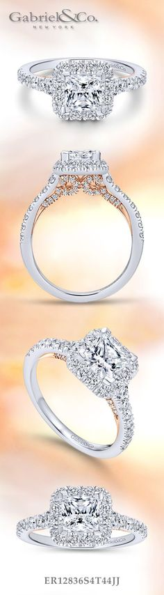 Gabriel & Co. - Voted #1 Most Preferred Bridal Brand. Pick out your favorite Halo Princess Cut Engagement Ring.