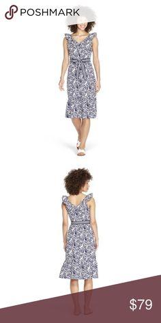 ca9e76fe Vineyard Vines Target Blue & White Ruffle Dress NWT! Beautiful blue and white  ruffled dress