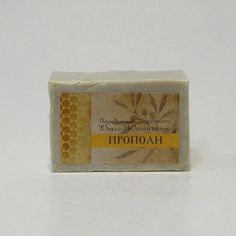 SOAP WITH PROPOLIS  INGREDIENTS & BENEFICIAL PROPERTIES:   Organic olive oil, chestnut tree's honey, propolis, balsam oil, beeswax, rain water, coconut oil, essential oil of bitter almond.  Propolis: Antiseptic, Inflammatory, Bactericidal, Antimicrobial, and Fungicidal.  Balsam Oil: Significant healing action for wounds and skin diseases.  Essential oil of bitter almond: Healing of skin. Beneficial on skin diseases.  Net weight : ~ 130 gr.