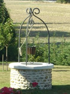 Water Well, Wishing Well, Outdoor Seating, Hanging Chair, Pergola, Villa, Wellness, Landscape, Exterior