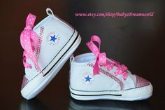 db93945fab00 Items similar to baby Converse Swarovski Rhinestones shoes