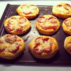 Easiest and tastiest pizza's ever! All you have to do is get one package of grands biscuits, coat the top of the pizza with any sauce. Sprinkle cheese of any sort, top with your favorite toppings add one last layer of cheese! Follow the directions on the package of the biscuits and Wala you have a very tasty pizza in 14 minutes! Very good meal to bring to someone or just a surprise, it tastes like gold!! Full proof meal for any day of the week. Enjoy!!