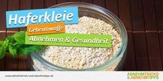 Haferkleie ist super gesundes Lebensmittel und gilt als Geheimtipp beim Abnehmen… Oat bran is super healthy food and is considered a secret tip when losing weight. Super Healthy Recipes, Diet Recipes, Healthy Food, Meals Without Carbs, What Can I Eat, Diabetes Remedies, No Carb Diets, Diet And Nutrition, Low Carb