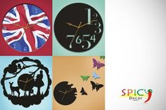 £24 Save 66% on A Designer Wall Clock In A Design Of Your Own Choice @ Spicy Decor    £24 instead of up to £69.99 (from Spicy Decor) for a designer wall clock in a design of your choice – spice up your walls & save up to 66%        Range of designs includes Jubilee-style figurines, to Captain America or Union Jack flags, to abstract artistic and fairy tale displays.      Choose from 31 wood, acrylic or decals clocks.      Theres something to suit any dcor.      All clocks run on batteries.