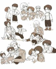 C: Eren Yeager, Levi Ackerman, Hanji Zoe, Ewrin Smith, Petra Ral S: Attack on Titan