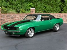 1969 ss camaro rallye green | Oldtown Automobile- 1969 Chevrolet Camaro RS (Rally Green) - $32900