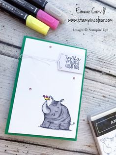 New product Blog Hop using Animal Outing and the Share What You Love Embellishment Kit, Stampin' blends, Quick and Easy Cards, Papercrafting Eimear Carvill www.stampincolour.com