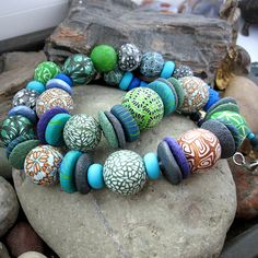 Mixed bead necklace. by Saffron Addict, via Flickr