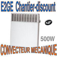 CONVECTEUR MECANIQUE 500 W CLASSE 2 IP 24 ELECTRIQUE - Chantier-discount materiel electrique a bas prix