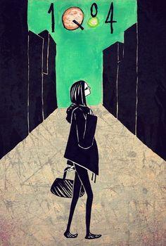 "Fan art of Aomame, from Haruki Murakami's ""1Q84"""