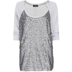 MANGO Loose-Fit Sequined T-Shirt