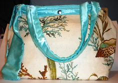 Ocean themed purse/handbag lined with inside by LaurieEmporium