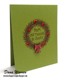 The Alley Way Stamps - Dana Warren - TAWS - Clear Stamps Cards Wreathed in Love
