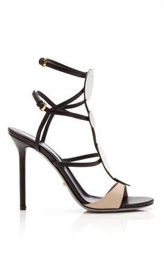 Shop Neutral Callisto Sandals by Sergio Rossi - Moda Operandi