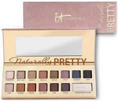 My most current venture is an ALL-MATTE eyeshadow palette with a basic dark brown, light brown, cream shadow and an assortment of other colors to play with. This is one of the candidates. | Naturally Pretty Vol. 1 Matte Luxe Transforming Eye Shadow Palette
