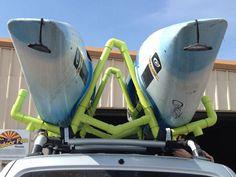 PVC Kayak Roof Rack/Carrier : 11 Steps (with Pictures) - Instructables Kayak Camping, Canoe And Kayak, Kayak Fishing, Fishing Stuff, Fishing Boats, Sailing Kayak, Truck Camping, Canoe Trip, Saltwater Fishing