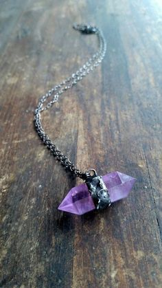 Divinity Necklace Double Terminated Amethyst