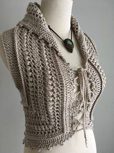 Crochet Mandala Pattern, Hand Crochet, Crochet Stitches, Knit Crochet, Crochet Patterns, Cotton Crochet, Gilet Crochet, Crochet Vests, Vest Pattern